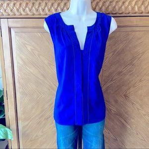 Calvin Klein open front sleeveless shell Top